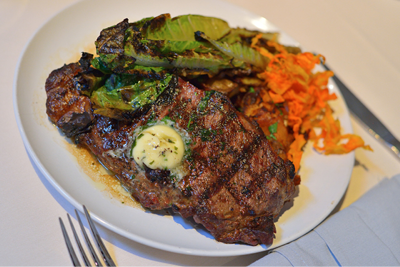 STEAK WITH AN HERB BUTTER. MIKE YAMIN