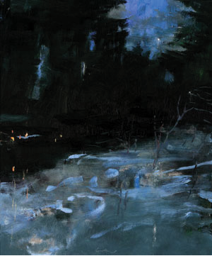 NOCTURNE, OIL ON LINEN, 36X30 INCHES, 2011
